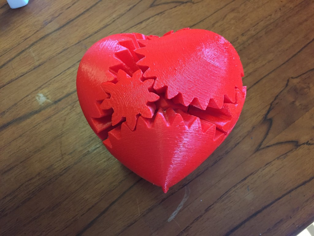 3D printed Geared Heart